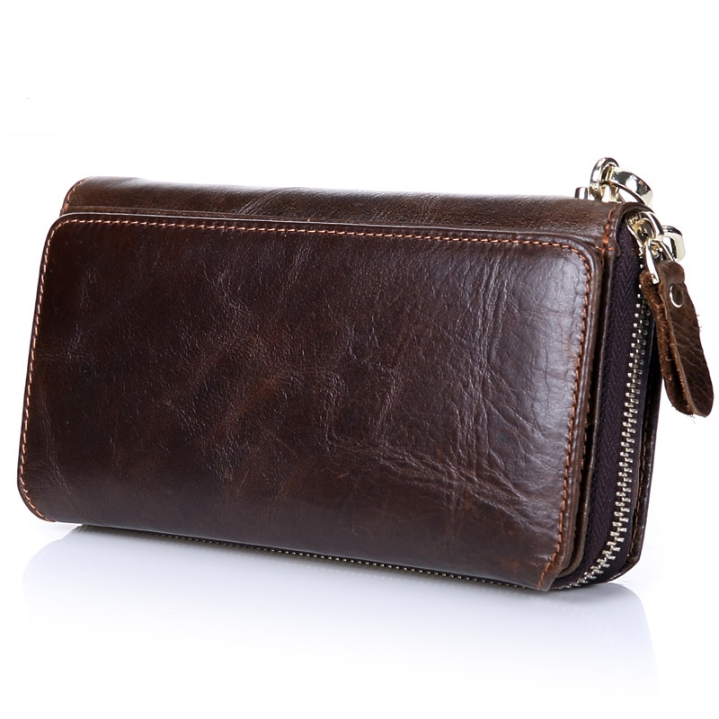 New Genuine Leather Men Wallet Business Long Day Clutches MultiFunctional High Quality Zipper Male Wallet Purse Men Wallets HB78 men wallet genuine leather cowhide solid wallets for male 2017 new arrival business day clutches long purse high quality famous