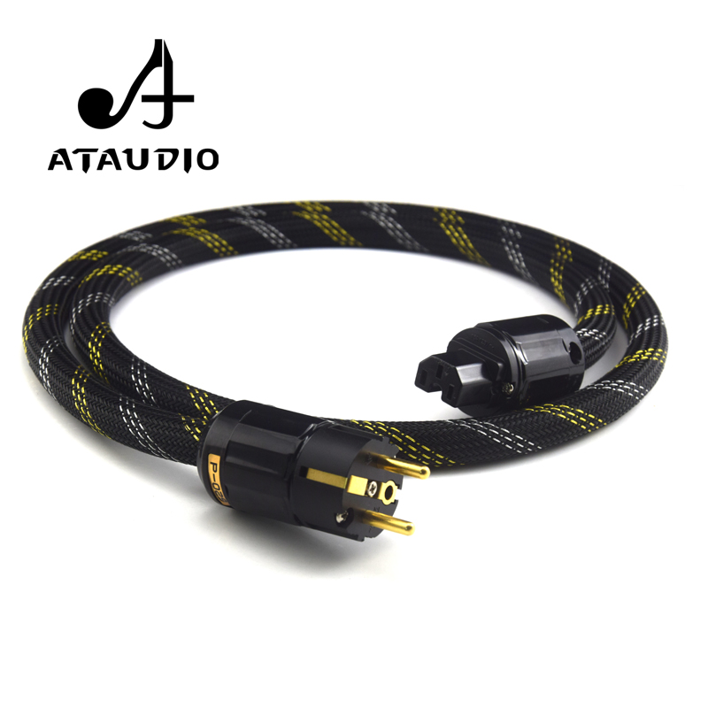 ATAUDIO Hifi EUR Power Cable 4N OFC Pure Copper Power Cable With European Connection