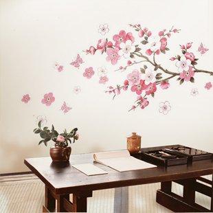 Flor de durazno flor de pared del arte etiqueta engomada for Decorazioni pareti