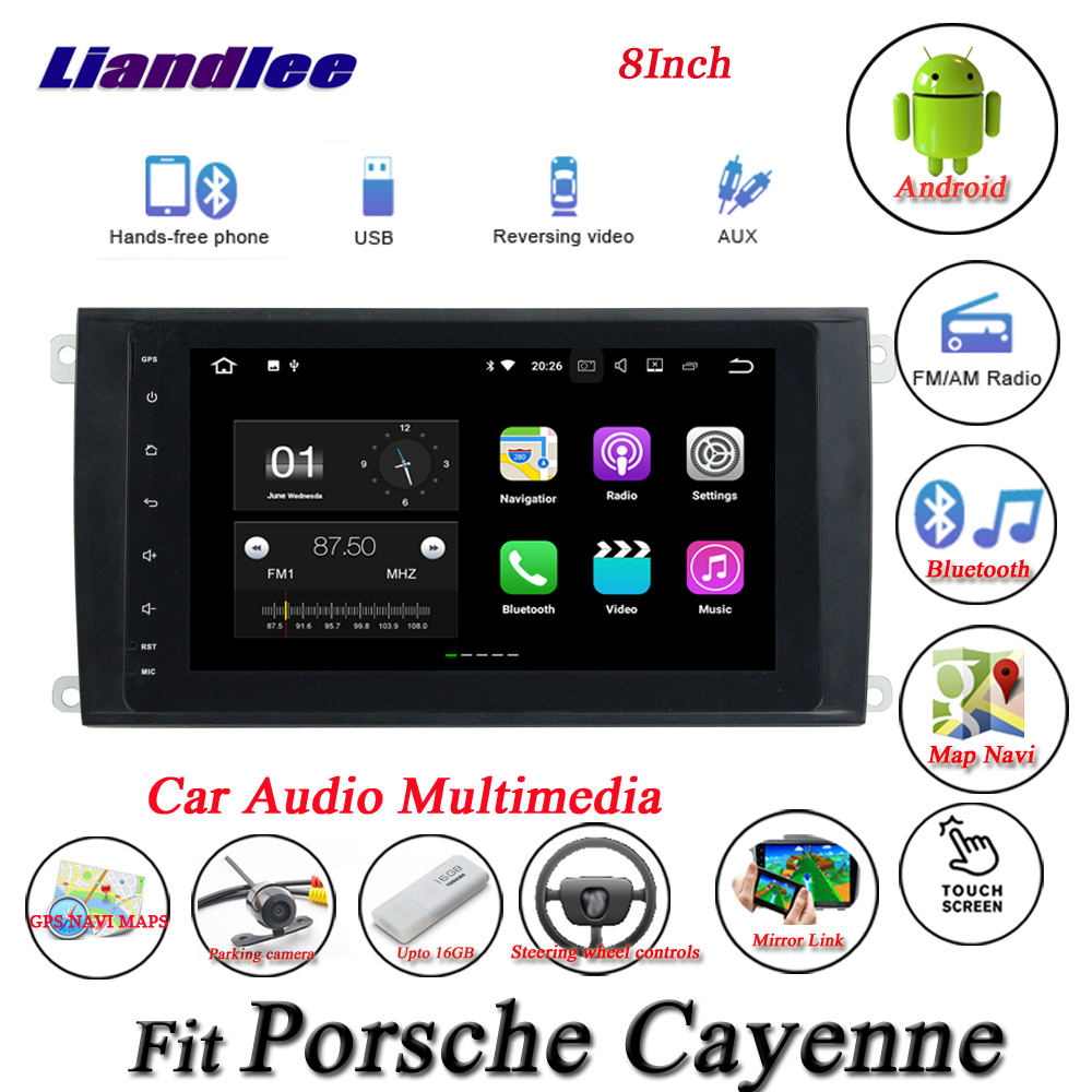 Liandlee Car Android System For Porsche Cayenne 9PA Radio GPS Nav Navi MAP Navigation Wifi HD Screen Multimedia NO CD DVD Player