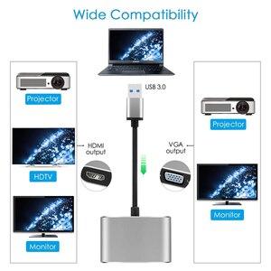 Image 2 - 2020 USB 3.0 إلى HDMI مهايئ VGA ماك OS USB إلى VGA HDMI محول 1080P محول دعم HDMI VGA مزامنة الإخراج ل Windows7/8/10