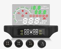 Автомобильный OBD II ЖК монитор высокого разрешения Дисплей давление в шинах Мониторинг TPMS HUD монитор wireles head up + система мониторинга давления