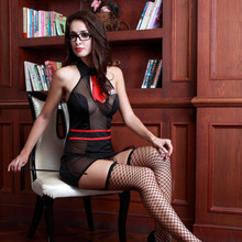 Women Sexy Lingerie Erotic Seductive School Teacher Cosplay Costumes Role Play Dress Halloween