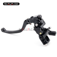 Universal 7 8 22mm Motorcycle Front Brake Master Cylinder Levers With Bar Clamp