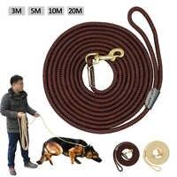 Durable Dog Inseguimento Guinzaglio In Nylon per Cavi Lunghi Corda Pet Formazione A Piedi Guinzagli 3 m 5 m 10 m 20 m per le Medie Cani di Taglia Grande Non-slip