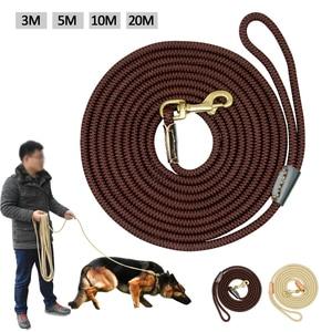 Durable Dog Tracking Leash Nylon Long Leads Rope Pet Training Walking Leashes 3m 5m 10m 20m For Medium Large Dogs Non-slip(China)