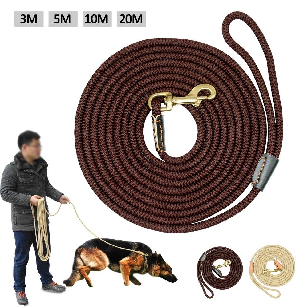 Durable Hund Tracking Leine Nylon Lange Führt Seil Pet Training Walking Leinen 3 mt 5 mt 10 mt 20 mt für Medium Large Hunde Nicht-slip