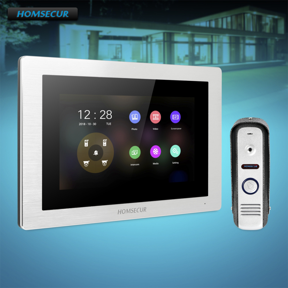 HOMSECUR 7 Wired Video Door Phone Intercom System with 1.3MP Silver Camera 110 degree BC021HD-S+BM714HD-SHOMSECUR 7 Wired Video Door Phone Intercom System with 1.3MP Silver Camera 110 degree BC021HD-S+BM714HD-S