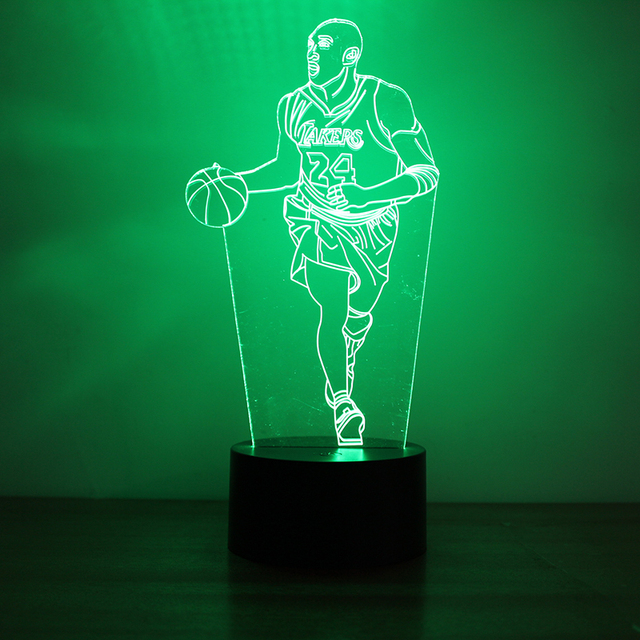 3D USB Led Creative Visual Table Lamp USB Kids Bedside NBA Basketball Lamp  Sleeping Night Light