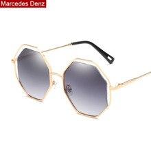 Новые металлические леопардовые солнцезащитные очки пилота мужские и женские Восьмиугольные Брендовые очки дизайнерские модные мужские женские оттенки