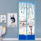 Magic Mesh Mosquiteras Para Puertas Mosquito Net Mosquitera Curtain Cartoon Printing Magnetic Screen Door Bedroom Salmonella