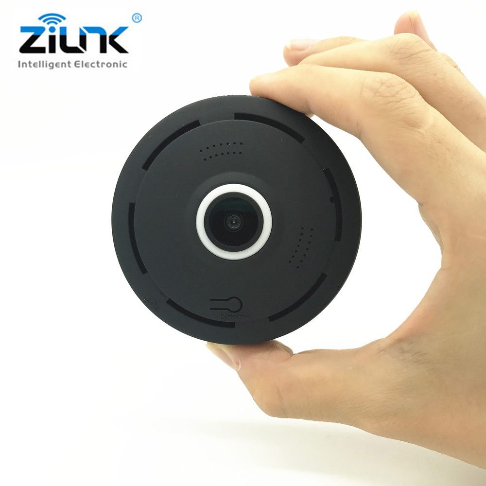 ZILNK 1080P HD FishEye IP Camera 360 Degree Panoramic Wireless Mini WIFI Camera Night Vision IR Support 64GB TF Card mini hd 360 degree fisheye panoramic analog high definition surveillance camera module security indoor ir night vision
