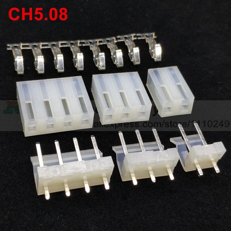 20set/lot CH5.08 5.08mm connector 20pcs female housing + 20 PCS male header + terminal 2 3 4 5 6 7 8 10pin 20pcs lot 17 18g 17 33 to252