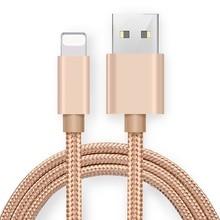 Ikismo 2A Быстрая зарядка USB нейлоновый кабель для iPhone XR XS MAX X 8 7 6 Plus 5S ipad mini быстрое зарядное Освещение кабели для передачи данных