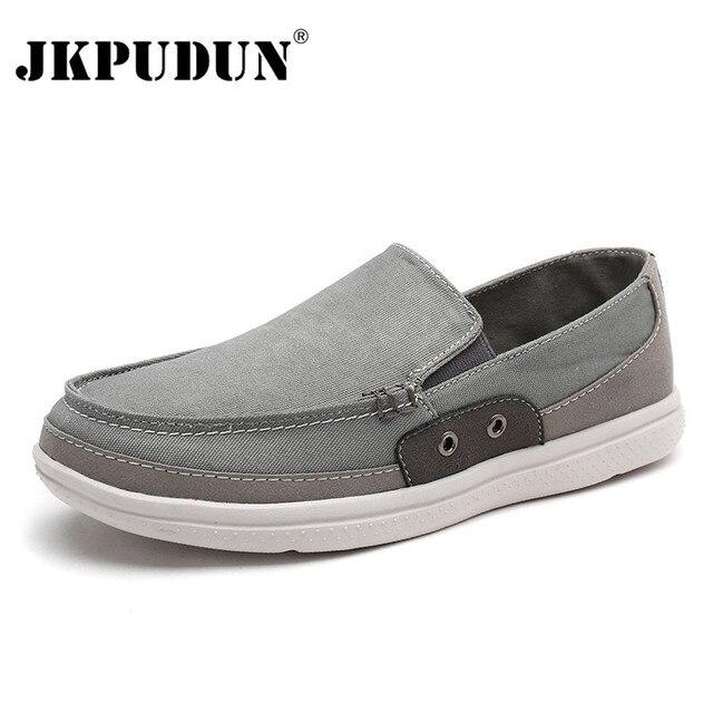 43eb13025 JKPUDUN Designer Men Canvas Shoes High Quality Mens Shoes Casual Luxury  Brand Men Loafers Italian Classic Shoes Men Espadrilles