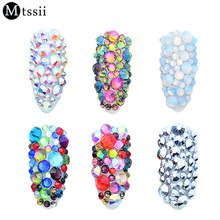 MTSSII 1 Pack Mix Crystal Clear AB Opal White Non Hotfix Flatback  Rhinestones 3D e863d6a876e0