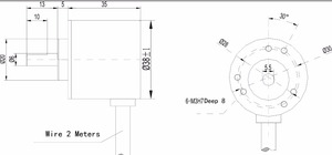 Image 5 - Aihasd 5PCS/LOT AB Two phase 5 24V 400 Pulses Incremental Optical Rotary Encoder