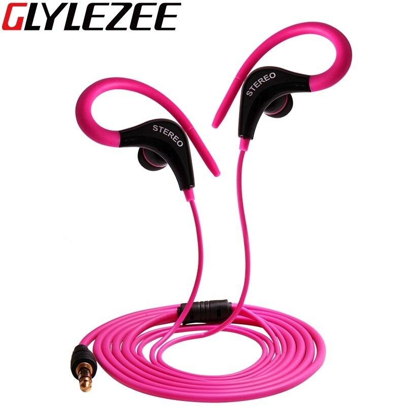 Glylezee Ear Hook Earphone Outdoor Sports Headphone Wired MP3 Headset Noice Cancelling Headphone for iPhone Samsung Xiaomi