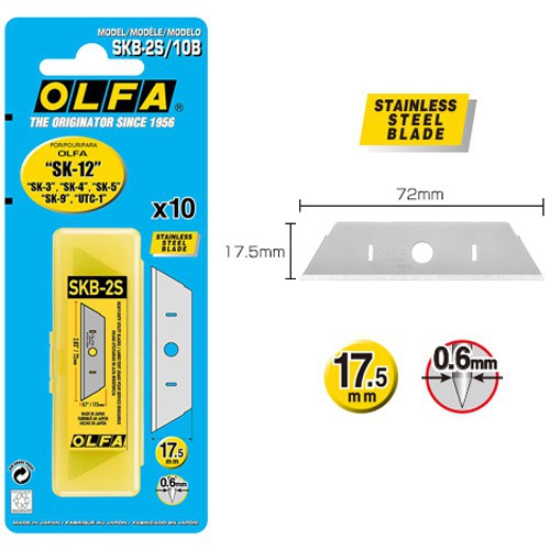 2018 Rushed Special Offer Pencil Japan Olfa R Skb - 2 S / 10 B Stainless Safety Razor Blades Suitable Tool Carrier Sk 12 4