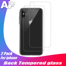 Acespower Waterproof No Fingerprint Rear Tempered Glass Back Film for Apple Smartphone iPhone X XS MAX XR Back Protector 2PCS