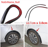 Opel Astra h gtc/j Car Fender Flare Wheel Eyebrow 2pc117cm Protector Lip Wheel arch Trimfor