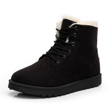 Minpinstyle Winter Women s Boots Snow Boots Lace Up Fur Ankle Boots Ladies  Warm 2018 New Style 8af3c31c6aeb