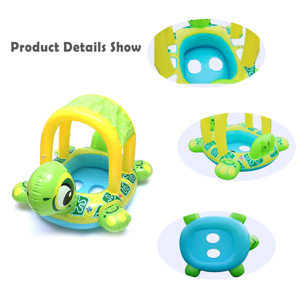 Baby Swimming Toy Portable Cartoon Turtle Shape Inflatable Beach Swimming Pool Floating Seat Boat Pool Toy For Children Gift