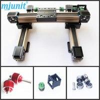 MJUNIT postioning eixo xy Série Suporte Do Eixo de Slides de Movimento Linear CNC Trilho de Alumínio de alta qualidade