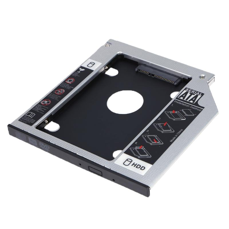 9mm HDD SSD Case Hard Disk Drive HDD Optical Bay Caddy Hard Disk Drive Enclosure CD-ROM Disk Drive Bay