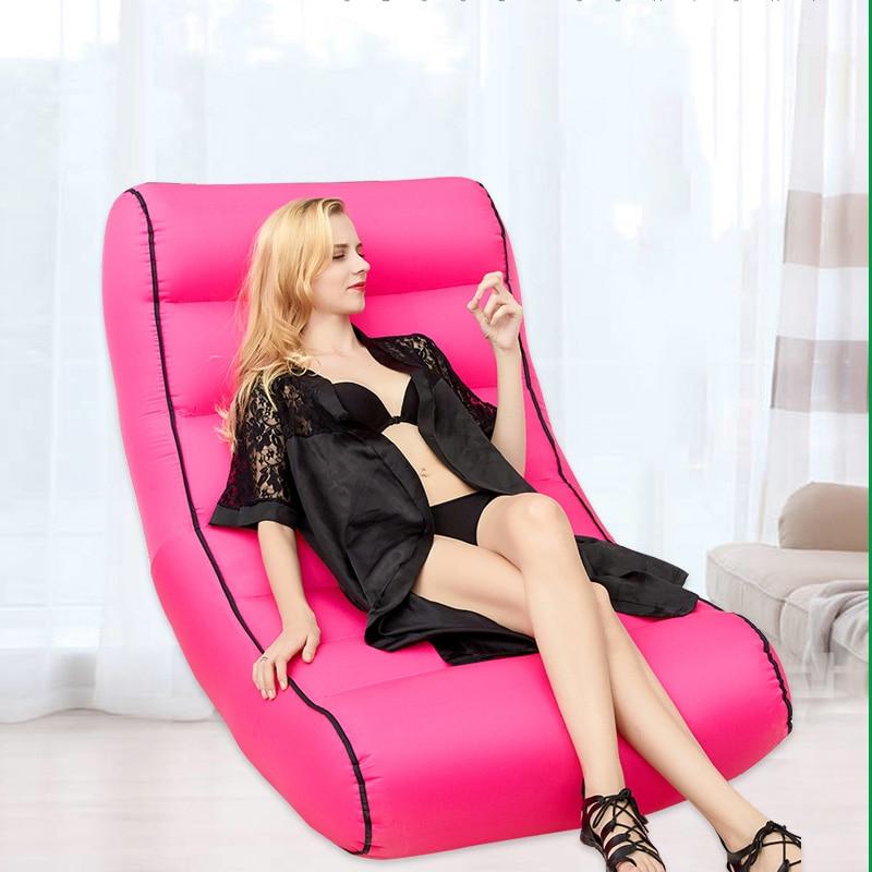 Lit d'air confortable canapé extérieur portable tapis de sol imperméable à l'eau gonflable paresseux canapé chaise camping plage canapé lit de couchage