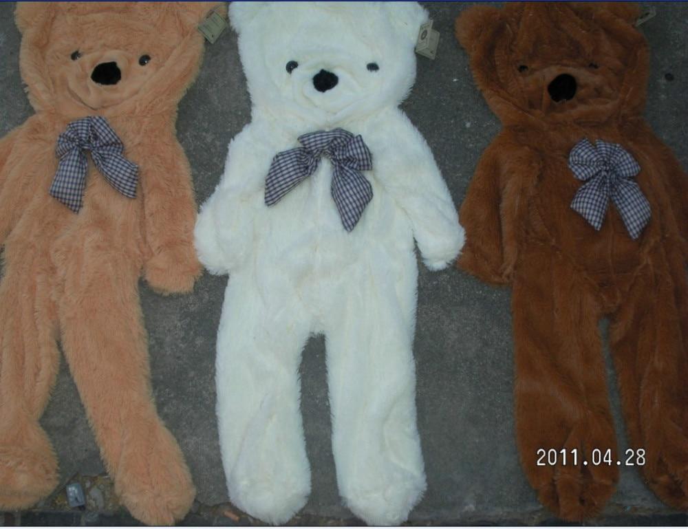 ФОТО Wholesale  Factory price! 3colors Empty 200cm Oversized plush toys teddy bear toys skin Stuffed Animals coat Free shipping