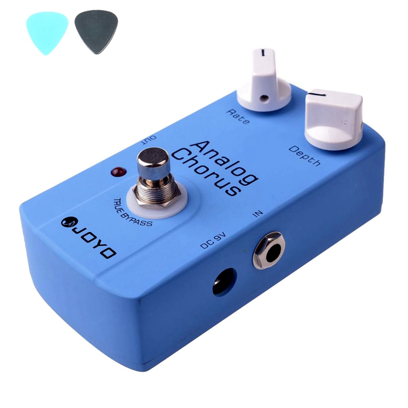 JOYO JF-37 Analog Chorus Effects Guitar Pedal JF37  True Bypass Musical Instrument Guitar Parts With Classic BBD Chip joyo jf 37 analog chorus electric guitar effect pedal true bypass design adjustable tone