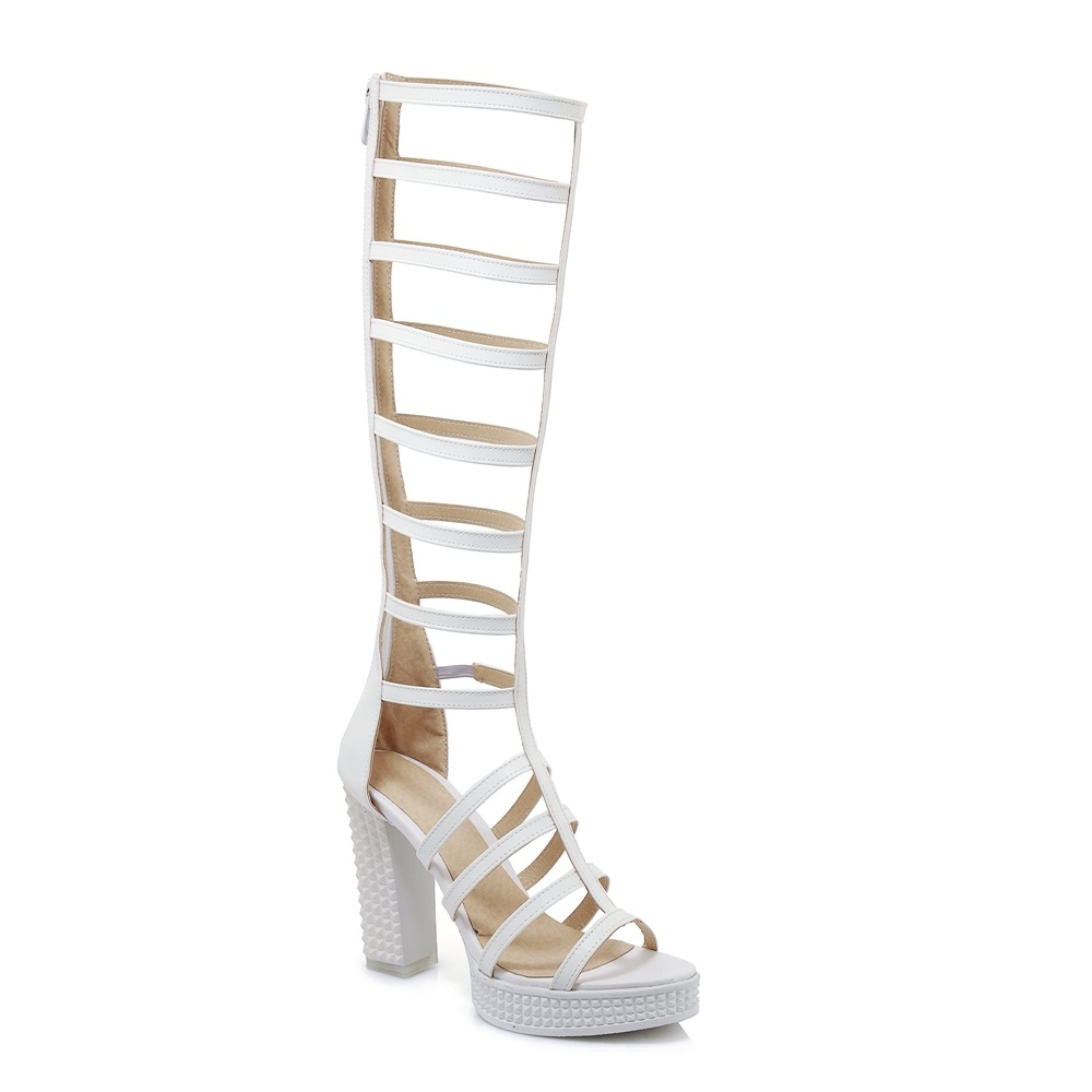 77eed128ac7 MORAZORA Plus size 33-43 New 2018 women sandals high heels gladiator  sandals women ladies. sku  32881131168