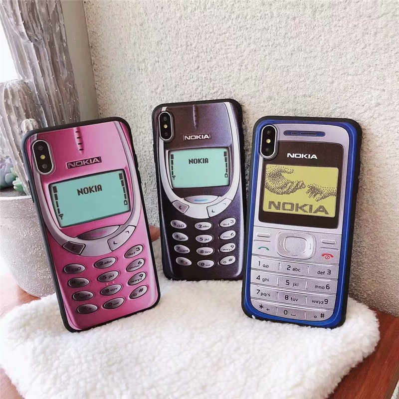 vintage Classic for NOKIA soft Black edge Smart covers For Coque ...