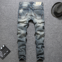 New Season Men S Grey Painty Jeans Denim Brand Pants Casual Style High Grade Slim Fit