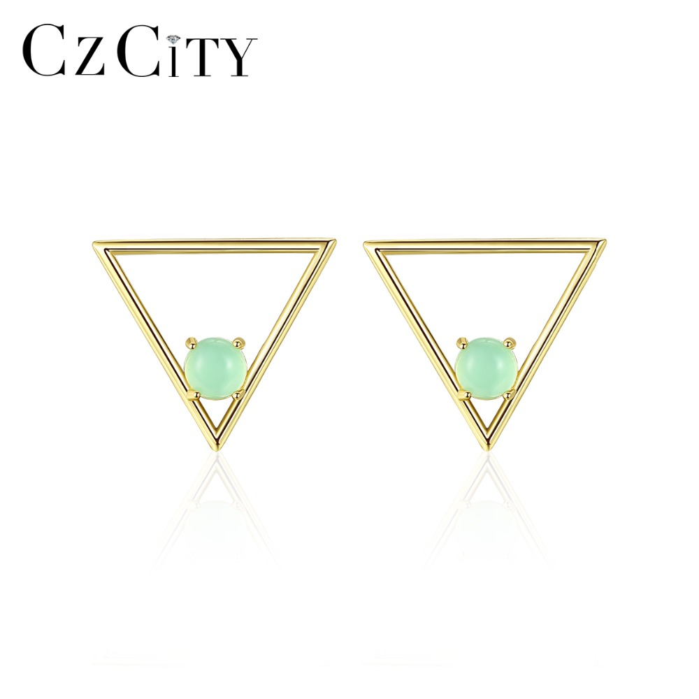 CZCITY Stud-Earrings Crystal Fine-Jewelry 925-Sterling-Silver Women Halo for Brightly
