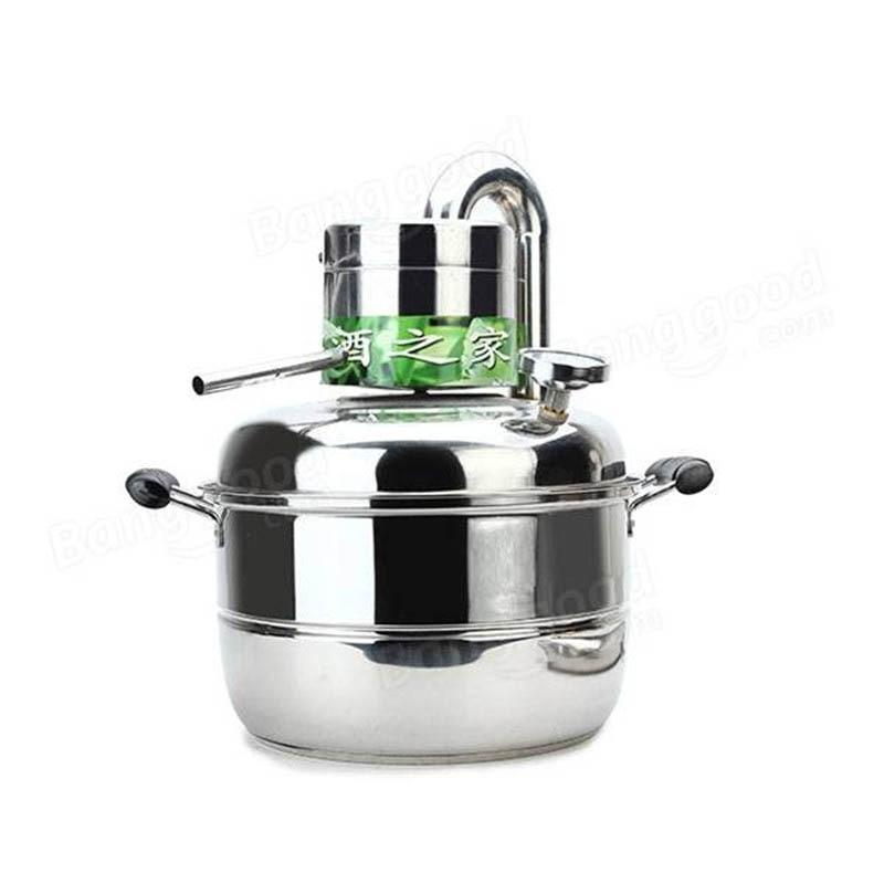 10 Litre Household Stainless Steel Home Alcohol Distiller Brewing Device Spirits Distillation Boiler