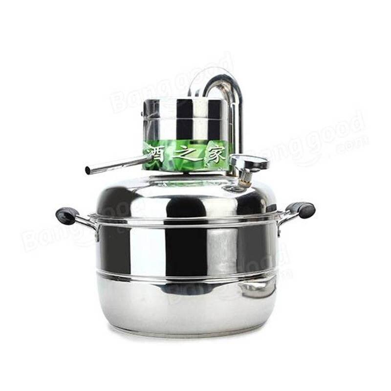 10 Litre Ménage En Acier Inoxydable Accueil Alcool Distillateur Brassage Dispositif Spiritueux Distillation Chaudière