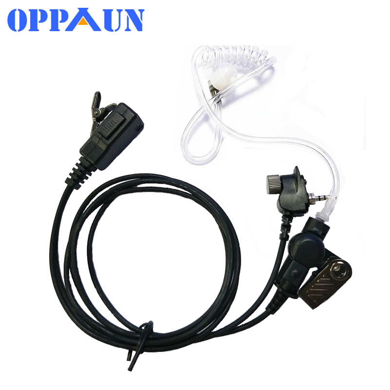 Acoustic Air Tube Earpiece Headset Mic PTT For Motorola MTP850 Walkie Talkie Portable Radio MTH800 MTH650 MTH850 MTS850