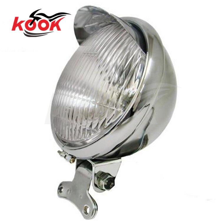 Universal Motorcycle Headlight Head Lamp For Honda Touring Harley Chopper Custom 12v motorbike motocross ATV Off-road moto parts