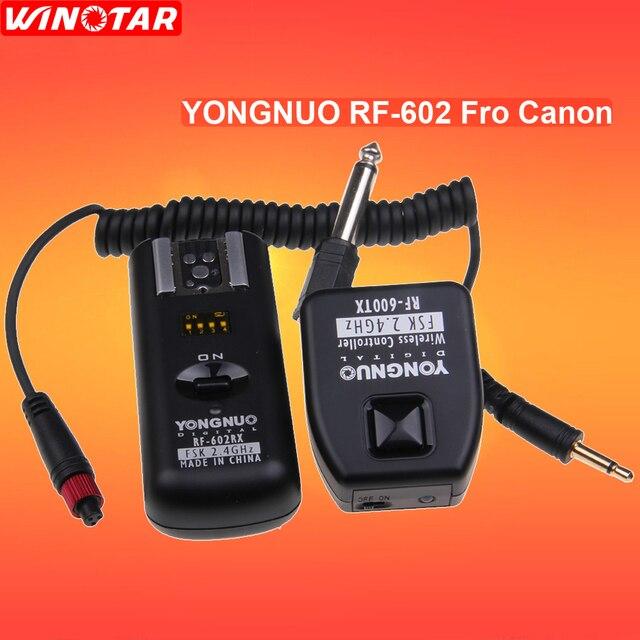 Yongnuo RF 602 RF602 C 2.4GHz Remoto Sem Fio Disparador de Flash Para Canon 800D 760D 750D 700D 650D 600D 550D 1300D 1200D 1100D 100D