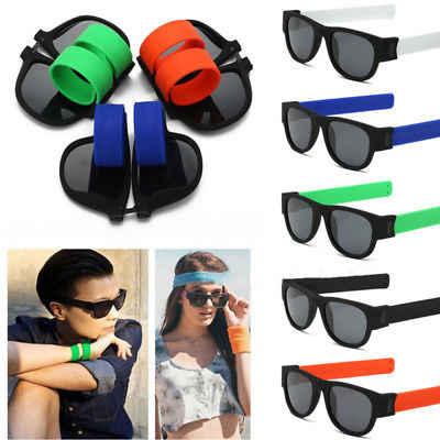 bf17d4649f ... Slap Foldable Sunglasses Polarized Women Slappable Bracelet Men  Wristband Fold Shades Fashion Beach Sports ring Sunglasses ...