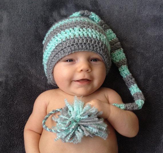 Crochet Baby Hat newborn photography props newborn