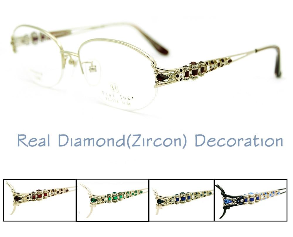 Women Glasses Frames Titanium Fashion Eyeglasses Optical ...