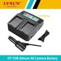 Lvsun slb0837b slb 0837b slb-0837b batería dual cargador y cargador de coche para samsung nv8 nv10 nv15 nv20 l70 l83t l201 pantalla lcd