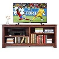 58 простая Изысканная развлекательная медиа центр деревянная подставка для хранения ТВ МДФ построенные регулируемые стеллажи кабельные от