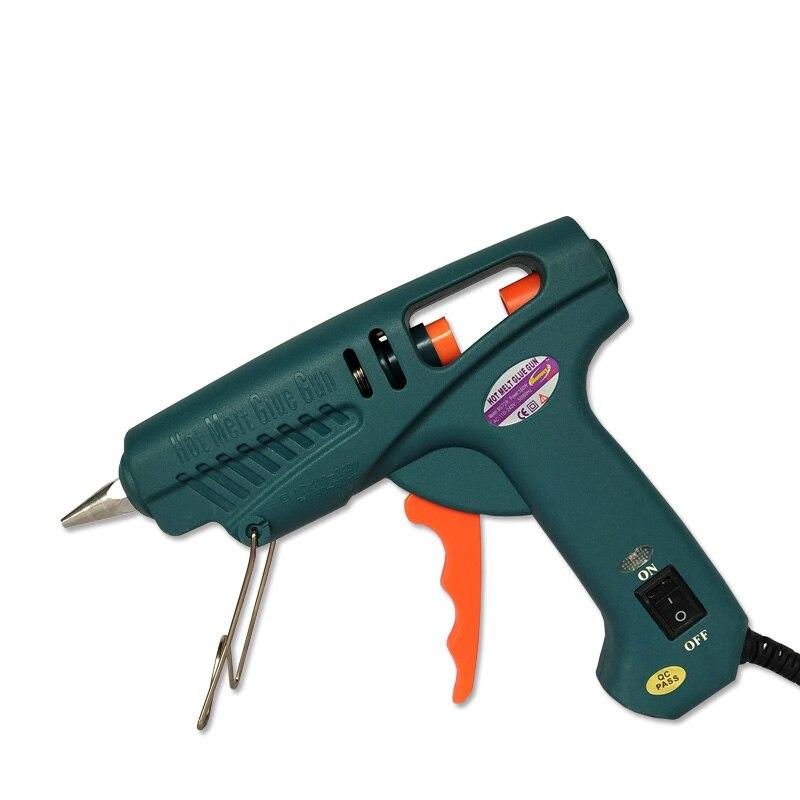 цена на TOOL Kit: AU US EU UK plug with power switch 100W hot melt glue gun, 1 pcs/lot, free shipping