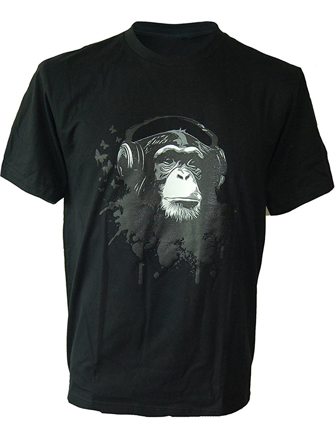 T Shirts Funny Short Sleeve O Neck Mens Cool Monkey Headphones Music Dj MenS T Shirt Party Club T Shirts