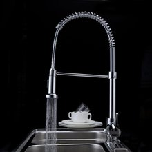 becola Pull Down Spring Brass Kitchen Faucet Hot and Cold Chrome Spray Water Mixer Sink Tap pull out CH-8003