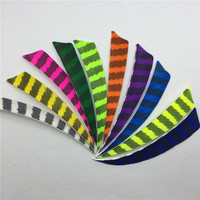 50Pcs 4 The Right Shield Cut Shape Feather Hunting Arrow Accessories With Feathered Bow And Arrow
